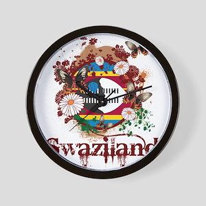 Butterfly Swaziland Wall Clock