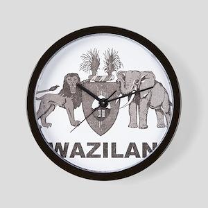 Retro Palm Tree Swaziland Wall Clock
