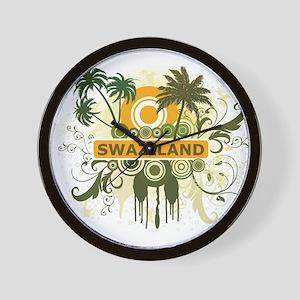 Palm Tree Swaziland Wall Clock