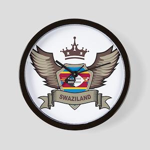 Swaziland Emblem Wall Clock