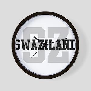 SZ Swaziland Wall Clock