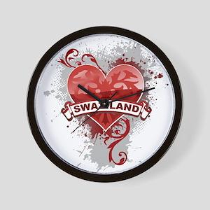 Heart Swaziland Wall Clock