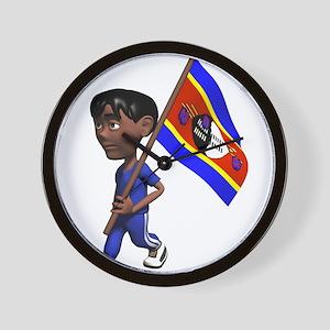 3D Swaziland Flag Wall Clock