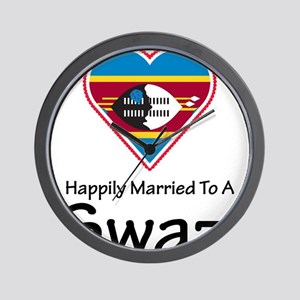 Happily Married To A Swazi Wall Clock
