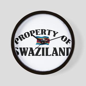 Property Of Swaziland Wall Clock