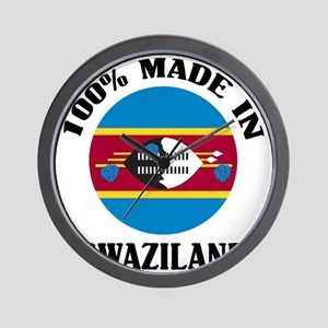 Made In Swaziland Wall Clock