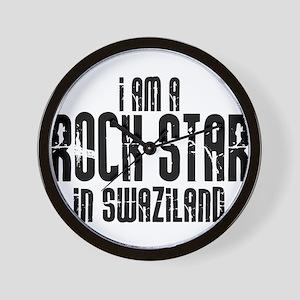 Rock Star In Swaziland Wall Clock