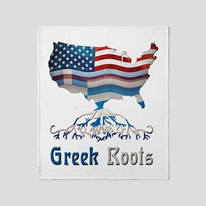 American Greek Roots Throw Blanket