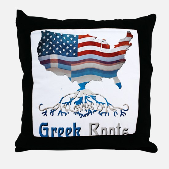 American Greek Roots Throw Pillow