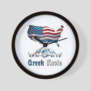 American Greek Roots Wall Clock