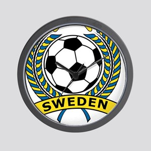 Soccer Sweden Wall Clock