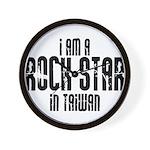 Rock Star In Taiwan Wall Clock
