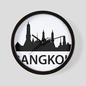 Bangkok Skyline Wall Clock