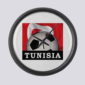 Tunisia Football Large Wall Clock