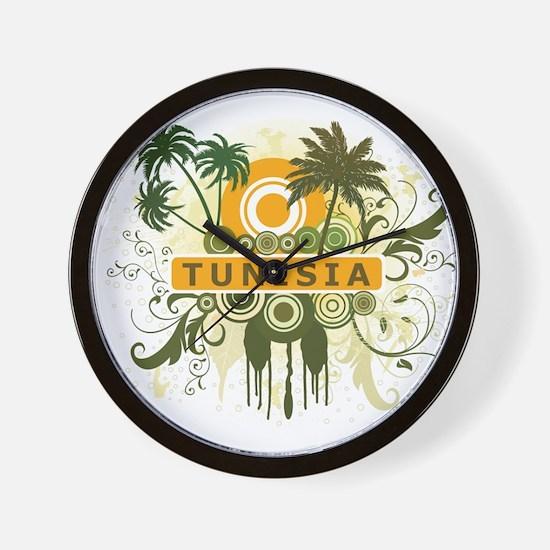 Palm Tree Tunisia Wall Clock