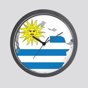 3D Map Of Uruguay Wall Clock