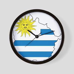 Map Of Uruguay Wall Clock