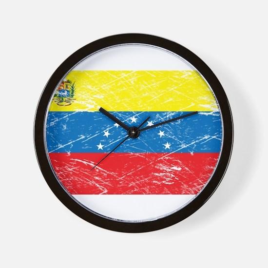 Vintage Venezuela Flag Wall Clock