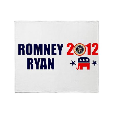ROMNEY RYAN 2012 BUMPER STICKER Throw Blanket