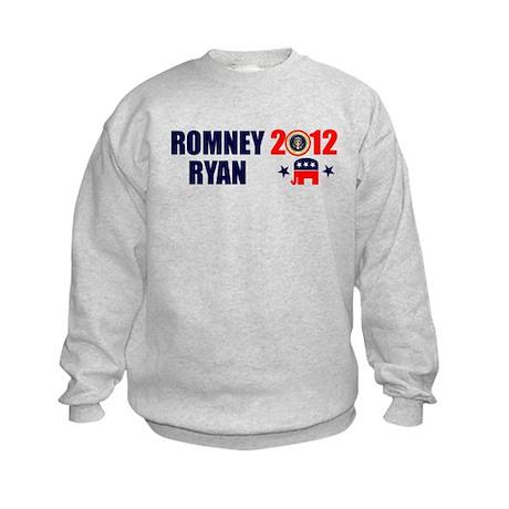 ROMNEY RYAN 2012 BUMPER STICKER Kids Sweatshirt