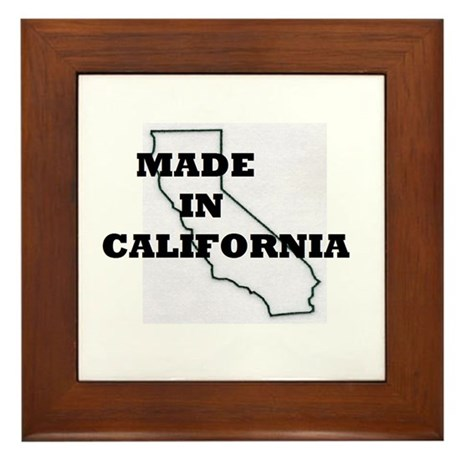 MADE IN CALIFORNIA Framed Tile