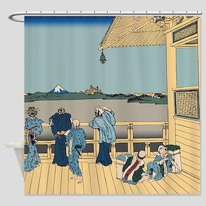 Hokusai Sazai Hall Shower Curtain