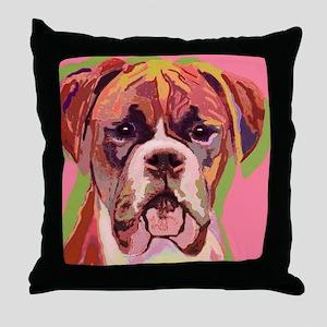 Boxer Dog Throw Pillow