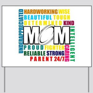 What is a Rugby Mom copy Yard Sign