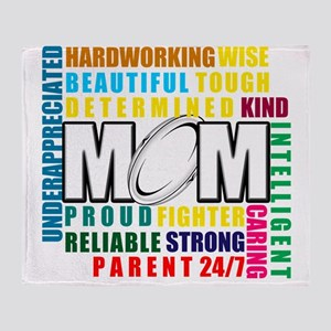 What is a Rugby Mom copy Throw Blanket