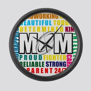What is a Rugby Mom copy Large Wall Clock