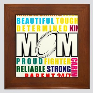 What is a Rugby Mom copy Framed Tile