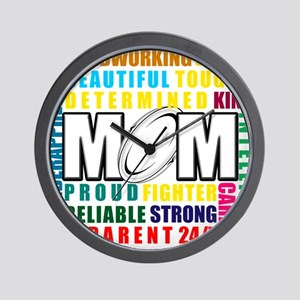 What is a Rugby Mom copy Wall Clock