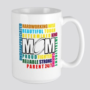 What is a Rugby Mom copy Large Mug
