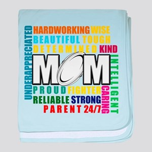 What is a Rugby Mom copy baby blanket