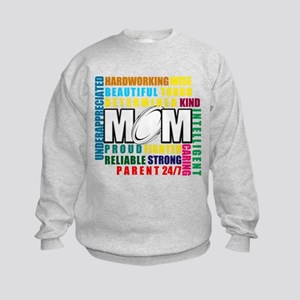 What is a Rugby Mom copy Kids Sweatshirt