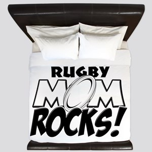 This Rugby Mom Rocks copy King Duvet