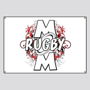 Rugby Mom (cross) Banner