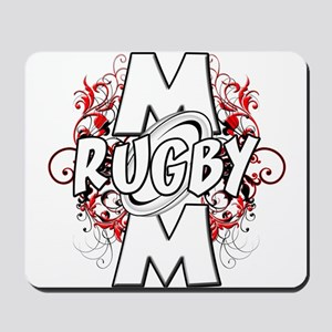 Rugby Mom (cross) Mousepad