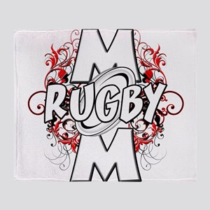 Rugby Mom (cross) Throw Blanket