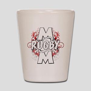Rugby Mom (cross) Shot Glass