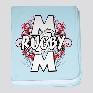 Rugby Mom (cross) baby blanket