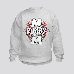 Rugby Mom (cross) Kids Sweatshirt