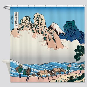 Hokusai Minobu River Shower Curtain