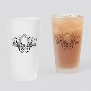 Rugby Mom (ball) copy Drinking Glass