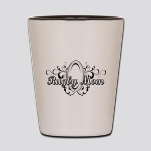 Rugby Mom (ball) copy Shot Glass