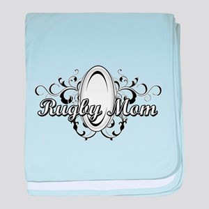 Rugby Mom (ball) copy baby blanket