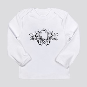 Rugby Mom (ball) copy Long Sleeve Infant T-Shi