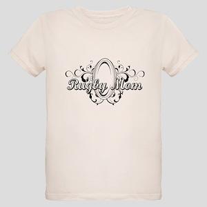 Rugby Mom (ball) copy Organic Kids T-Shirt