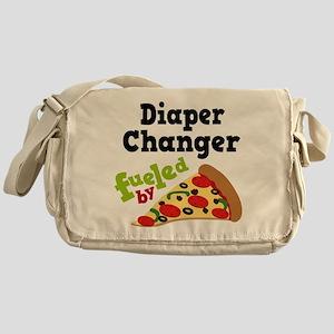 Diaper Changer Funny Pizza Messenger Bag