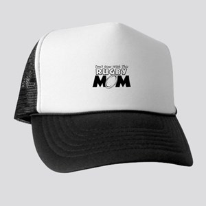 Dont Mess With This Rugby Mom copy Trucker Hat